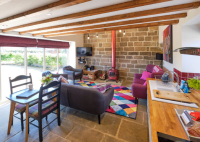 lounge Chestnut Barn, Aislaby, Whitby, North Yorkshire.