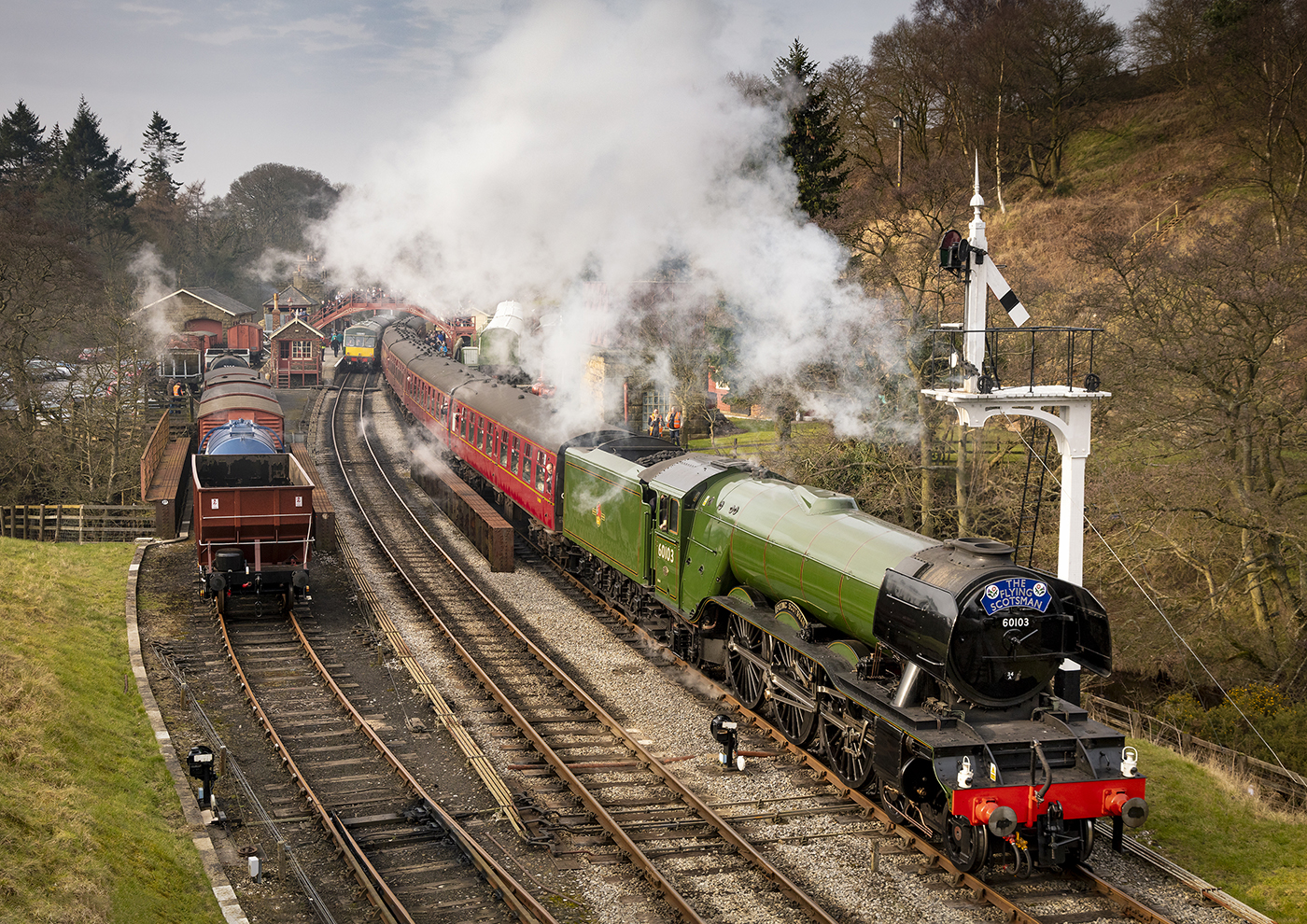 The Flying Scotsman at Goathland Station © Laurie Smithies
